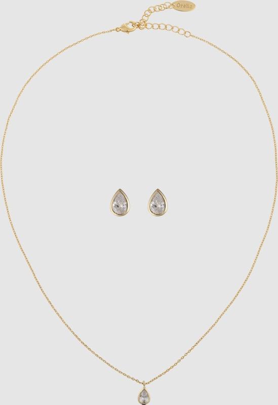Orelia Schmuck-Set 'Crystal Teardrop Giftbox Set'