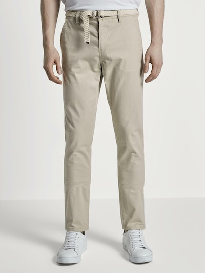 TOM TAILOR DENIM Chino Slim Hose in beige, Modelansicht