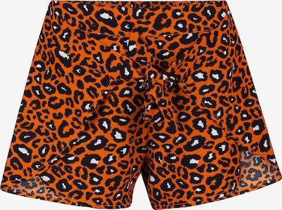 WE Fashion Shorts 'Odette' in orange / schwarz / weiß, Produktansicht