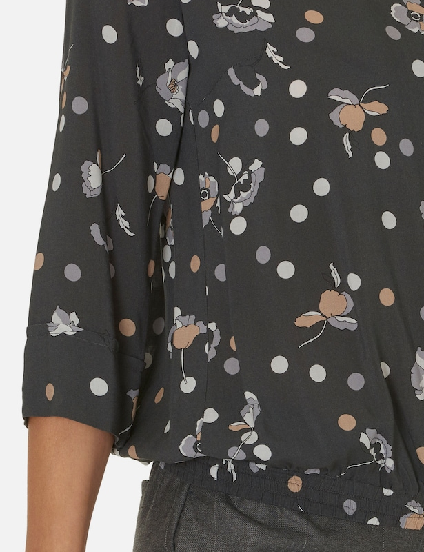 Betty & Co Bluse mit Allover Blumen Print