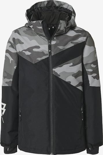 BRUNOTTI Skijacke 'Pander' in grau / basaltgrau / hellgrau / schwarz, Produktansicht