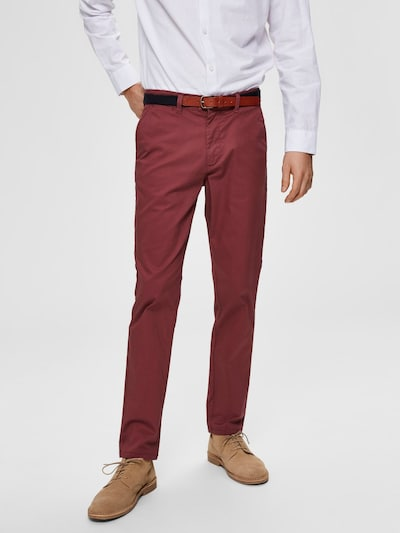 SELECTED HOMME Chinohose 'SLHYARD' in rubinrot, Modelansicht