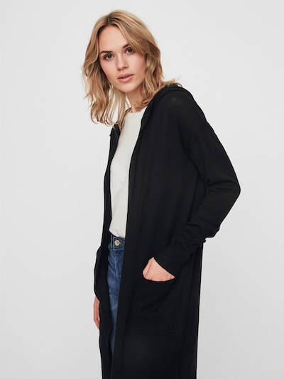 Noisy may Strick-Cardigan in schwarz, Modelansicht