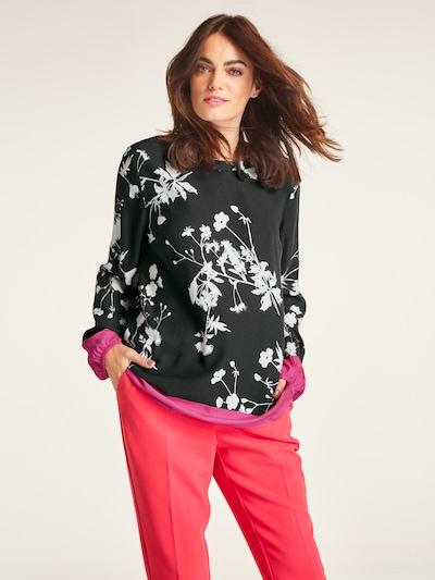 Bluză heine pe roz închis / negru / alb: Privire frontală