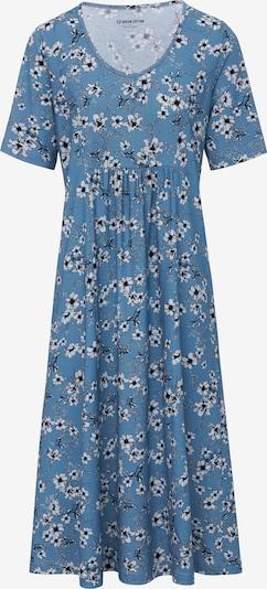 Green Cotton Jersey-Kleid in blau, Produktansicht