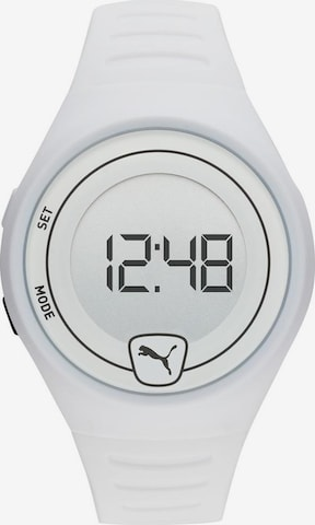 PUMA Uhr 'Faster, P5027' in Weiß