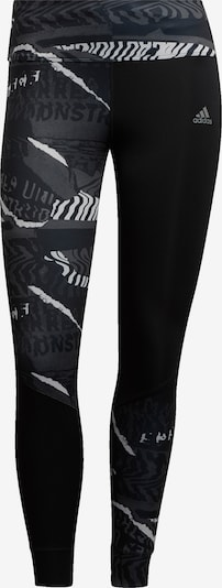 ADIDAS PERFORMANCE Pantalon de sport en gris / noir / blanc, Vue avec produit