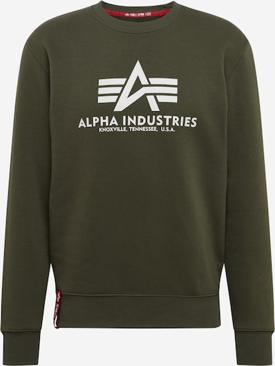 ALPHA INDUSTRIES Sweatshirt in oliv, Produktansicht