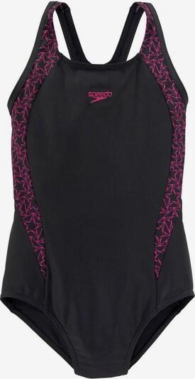 SPEEDO Badeanzug in dunkelpink / schwarz, Produktansicht