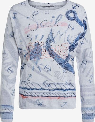 OUI Pullover in blau / grau, Produktansicht