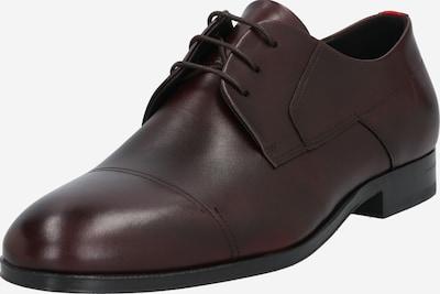 HUGO Chaussure à lacets 'Boheme_Derb_ltls' en rouge foncé, Vue avec produit