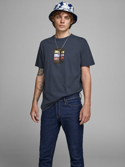 JACK & JONES T-Shirt en bleu marine: Vue de face