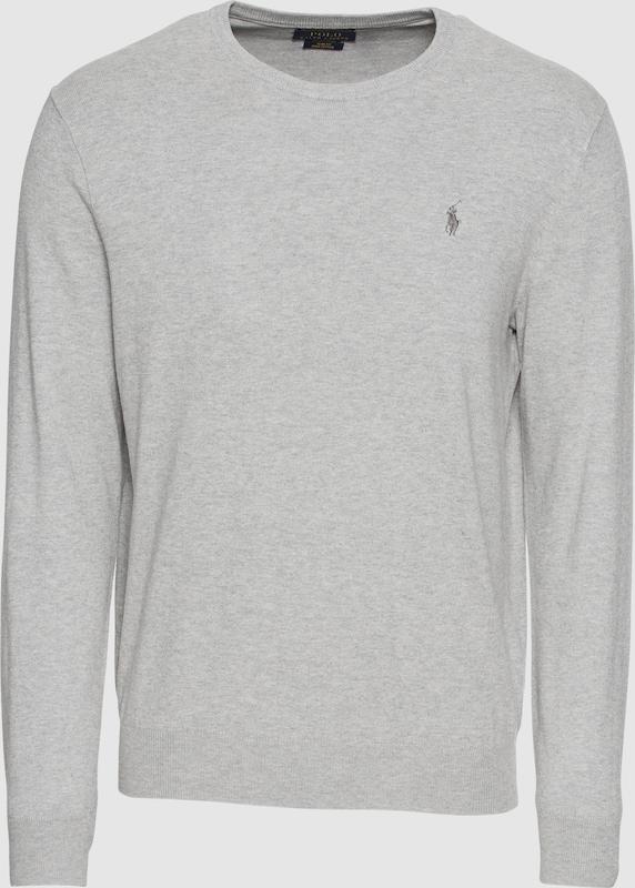 POLO RALPH LAUREN Pullover 'LS SF CN PP-LONG SLEEVE-SWEATER' in grau  Markenkleidung für Männer und Frauen