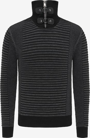 ROCKEASY Trui in de kleur Donkergrijs / Zwart, Productweergave