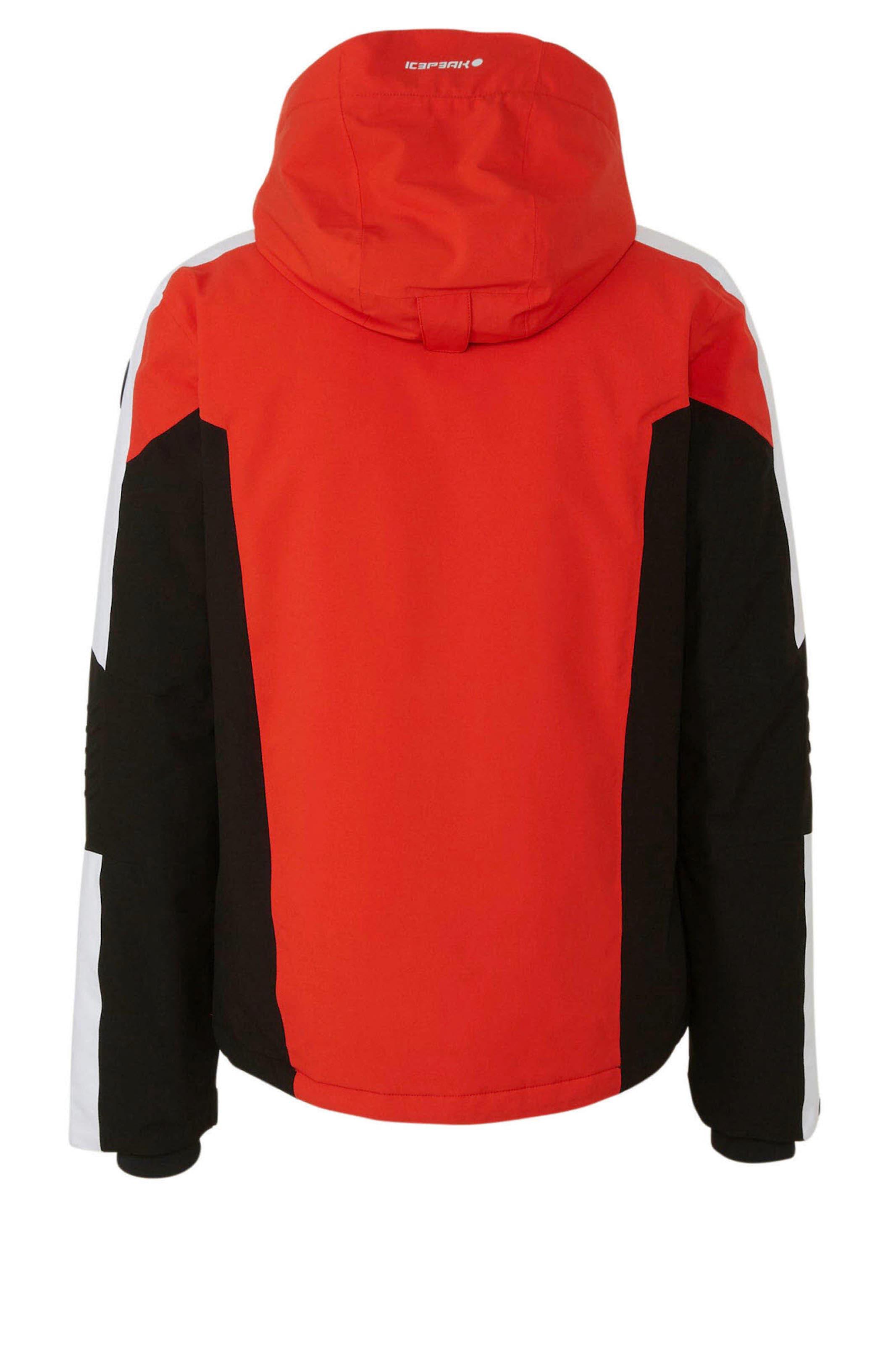 ICEPEAK Jacke 'Fieldon' in beige / orangerot / schwarz Gerader Saum 1-100198480-14Q-10