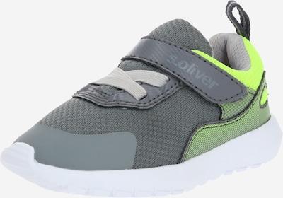 s.Oliver Junior Sneaker in grau / neongrün, Produktansicht