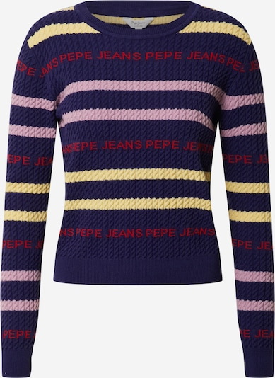 Pepe Jeans Pullover 'School Girl' in navy / gelb / lila / rot, Produktansicht