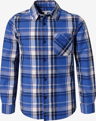 ESPRIT Kurzarmhemd in blau / rot / schwarz / weiß: Frontalansicht