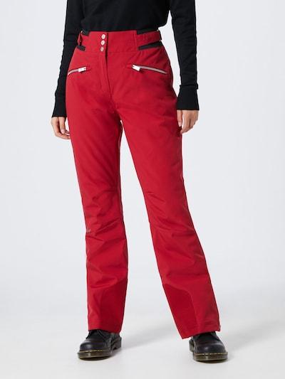 ZIENER Sporthose 'TILLA' in rot: Frontalansicht