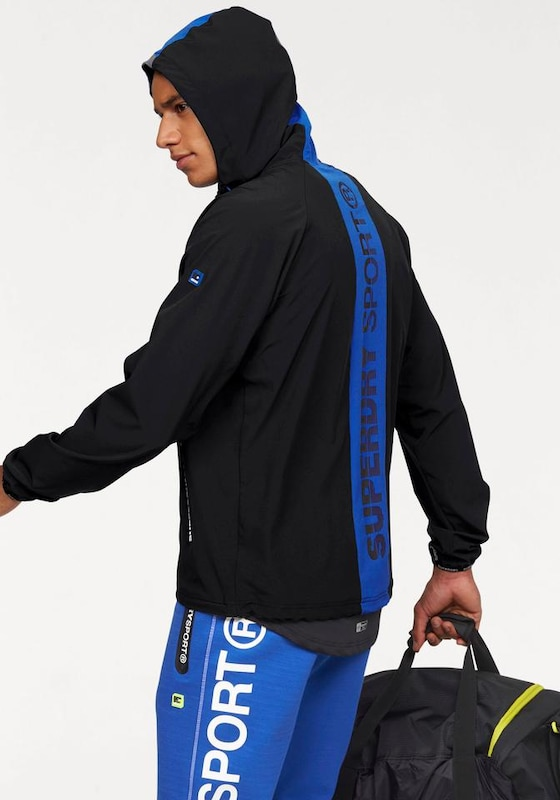 Superdry Trainingsjacke 'SPORTS ACTIVE FLASH RUN SHELL'
