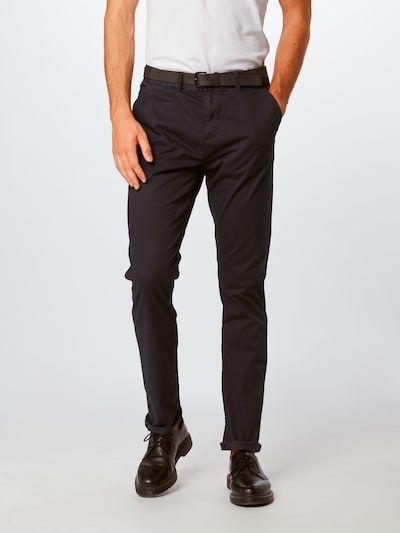 TOM TAILOR DENIM Chinohose in nachtblau, Modelansicht