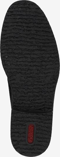RIEKER Schnürstiefel in schwarz: Ansicht von unten