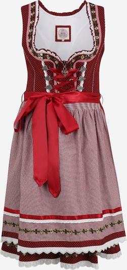 Rochițe tiroleze '013 Merla' MARJO pe verde / roșu sânge, Vizualizare produs