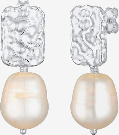 ELLI PREMIUM Perlenohrhänger in silber / perlweiß, Produktansicht