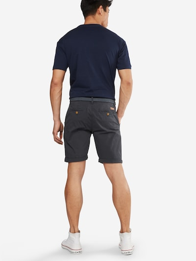 INDICODE JEANS Shorts 'Conor' in anthrazit: Rückansicht