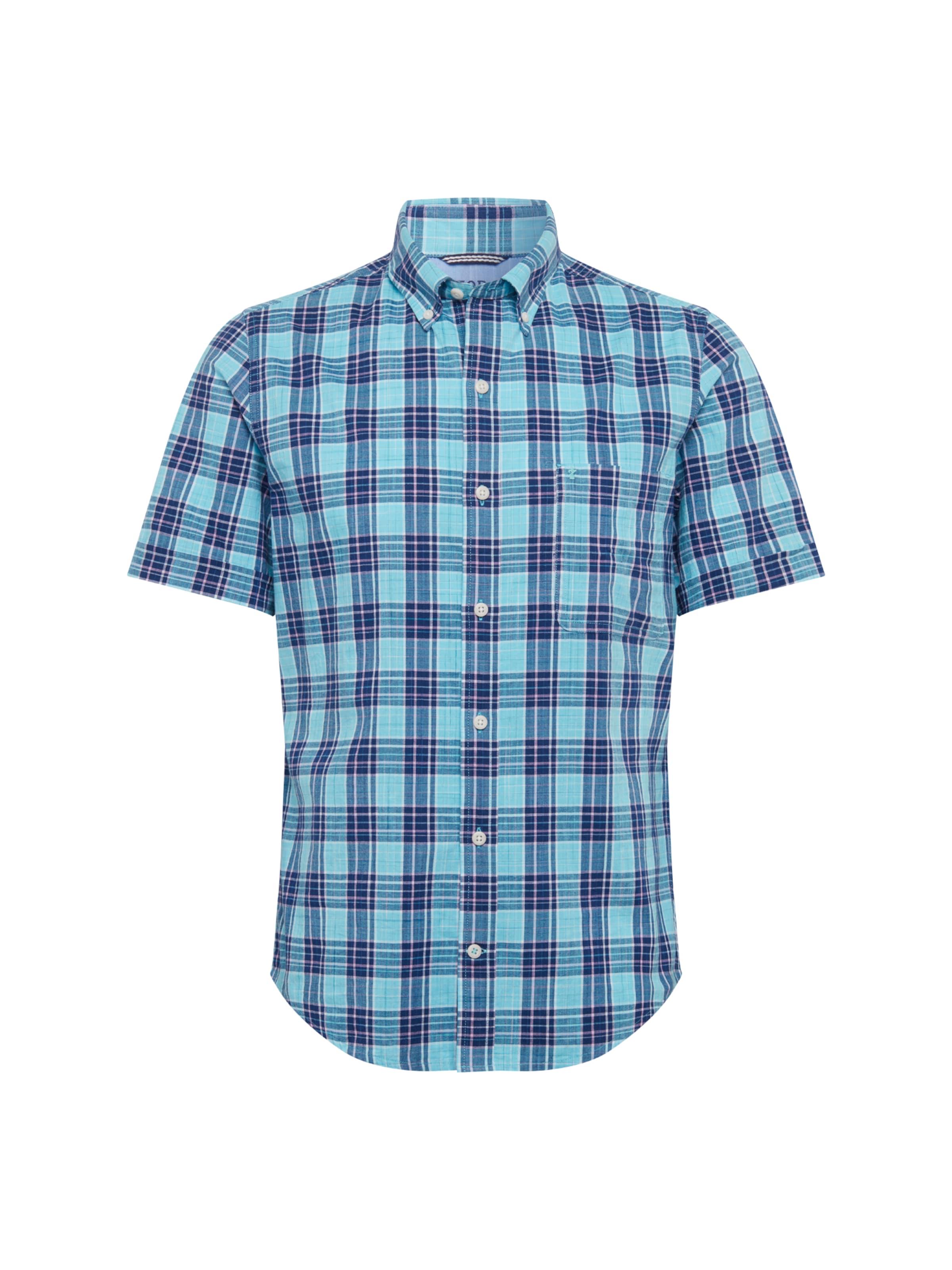 Ss Chemise Chambray En Bleu Izod 'dockside Plaid Shirt' l1JcuFKT3