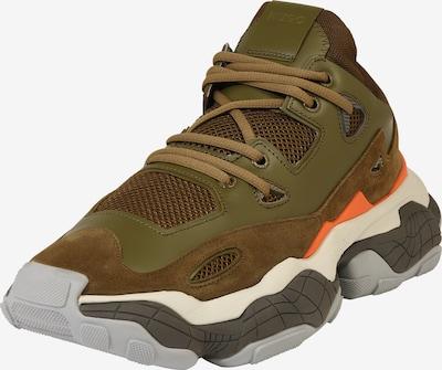 HUGO Sneakers laag 'Atomic_Runn' in de kleur Donkergroen, Productweergave