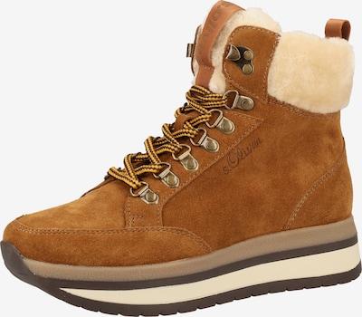 s.Oliver Sneaker in braun / cognac, Produktansicht
