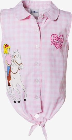Bibi und Tina Bluse in rosa / weiß, Produktansicht