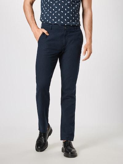SELECTED HOMME Hose 'SLHSTRAIGHT-PARIS LINEN PANTS W' in dunkelblau, Modelansicht