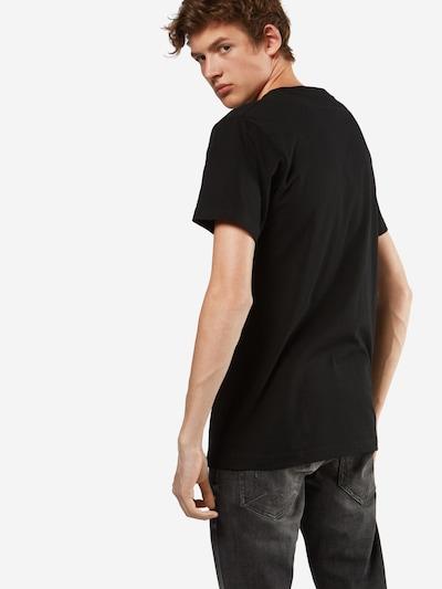 Mister Tee T-Shirt 'Burning Rose' in mischfarben / schwarz: Rückansicht