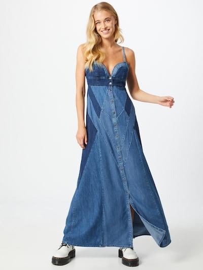 DIESEL Kleid 'De-Aryna' in blue denim, Modelansicht