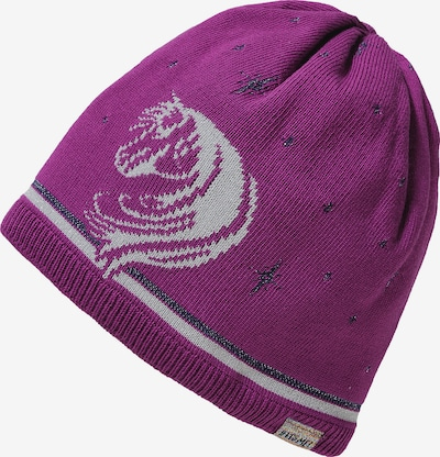 MAXIMO Mütze in grau / lila, Produktansicht