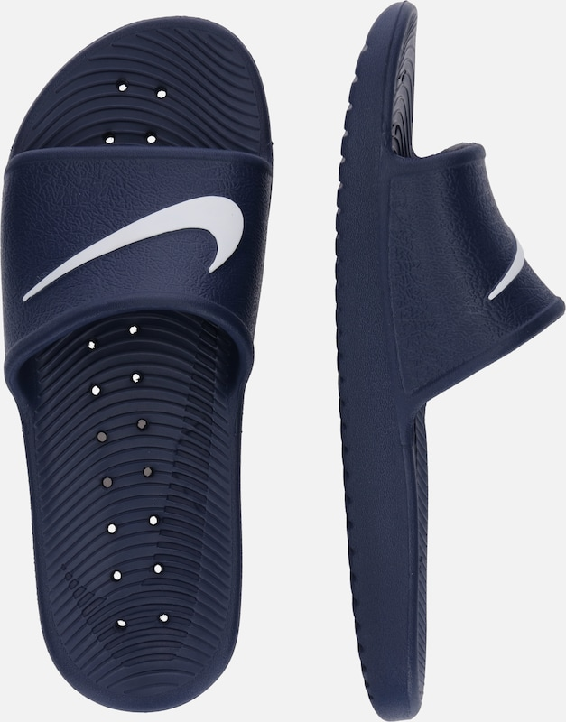 Nike Sportswear Slipper 'Men's Kawa Shower Slide' in navy / weiß: Seitenansicht