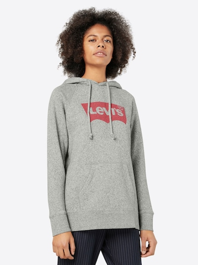 LEVI'S Sweatshirt in mottled grey / Red: Frontal view