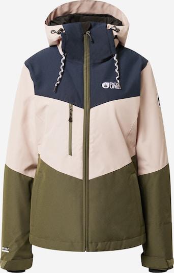 Picture Organic Clothing Veste outdoor 'Week End' en bleu foncé / vert / mélange de couleurs, Vue avec produit