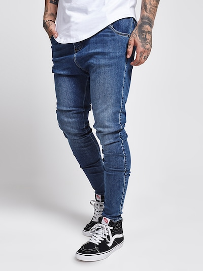 SikSilk Jeans in blue denim, Modelansicht