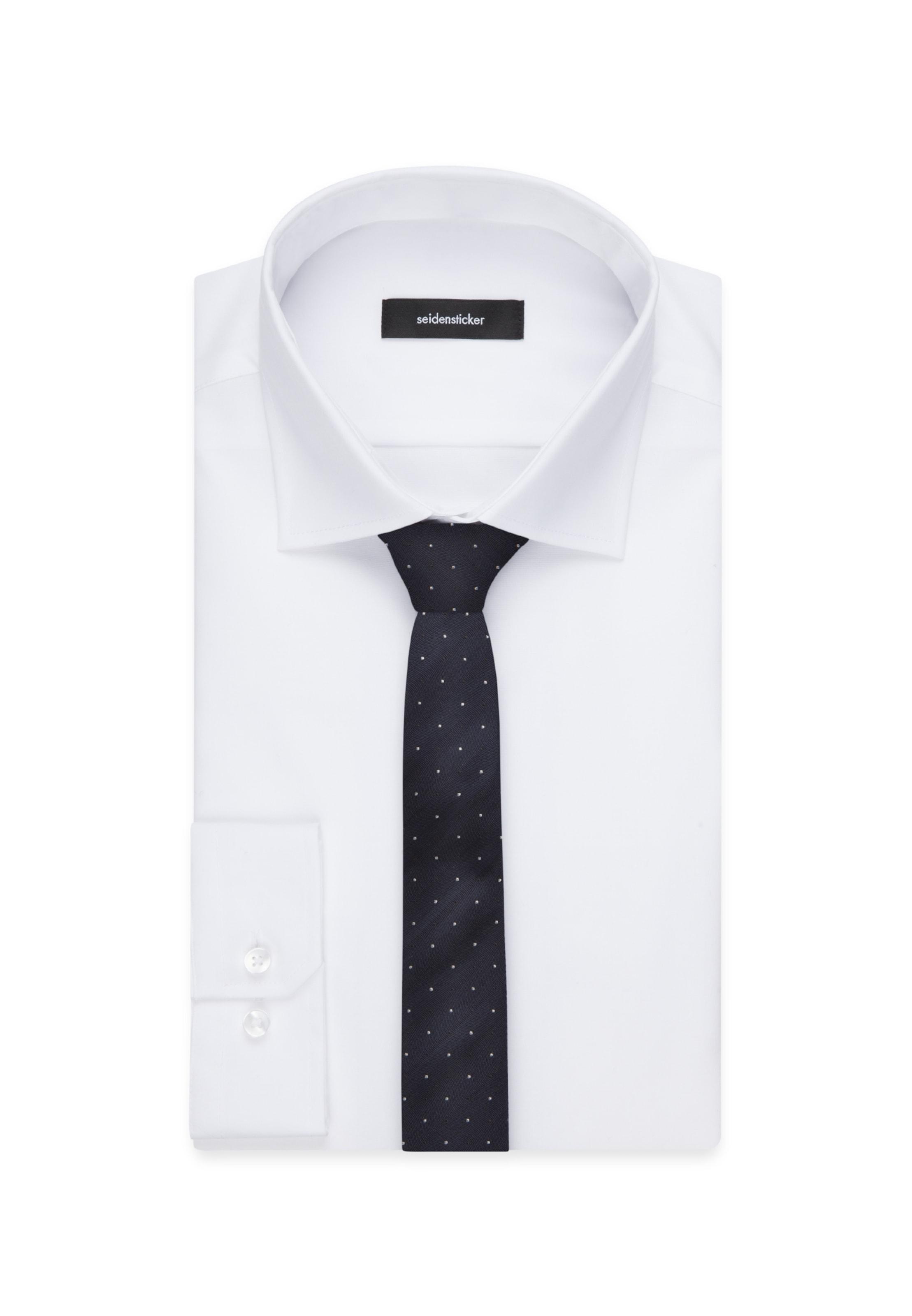 NachtblauWeiß Krawatte Seidensticker Seidensticker In Krawatte 3LR54cqAjS