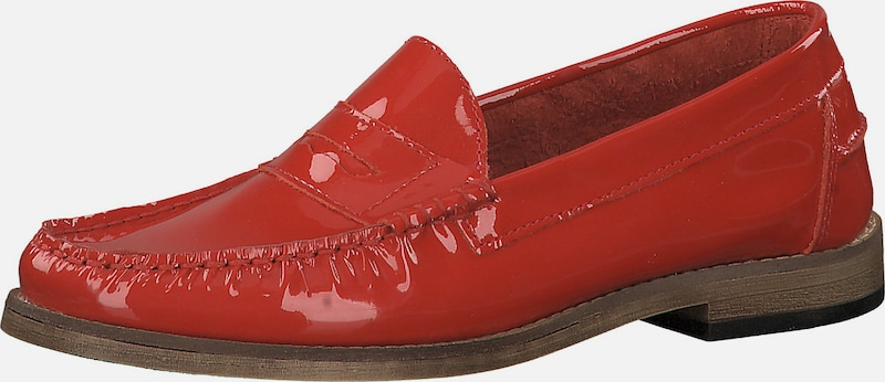 TAMARIS Loafers in rot: Frontalansicht