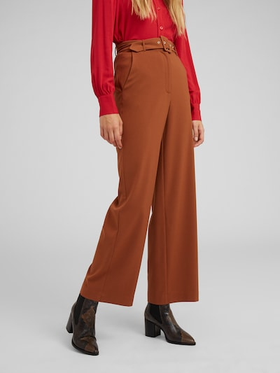 EDITED Pantalon 'Elona' en marron: Vue de face
