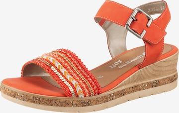 Sandales à lanières REMONTE en orange