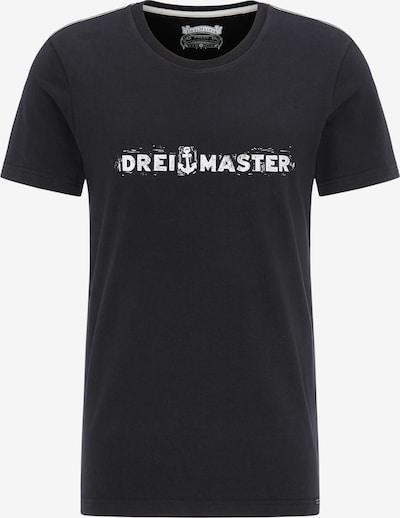 DREIMASTER T-Shirt in schwarz / weiß, Produktansicht