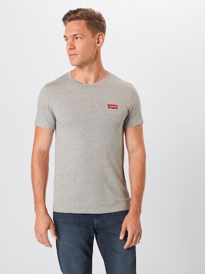 LEVI'S T-Shirt en gris / blanc: Vue de face
