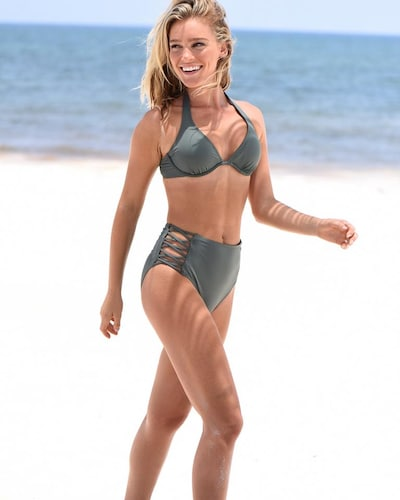 BENCH Bikini Bottoms 'Perfect' in Olive / Black, View model