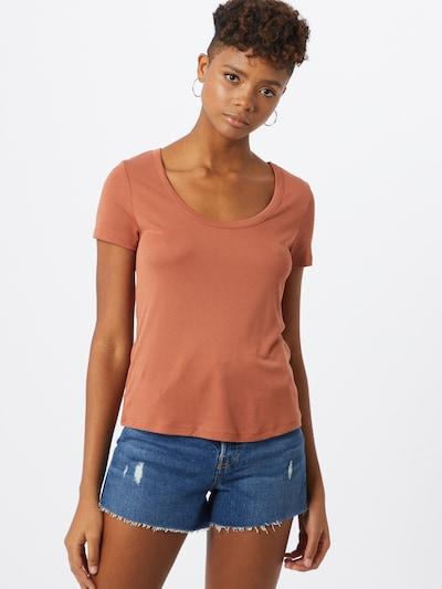 PIECES T-Shirt in koralle, Modelansicht