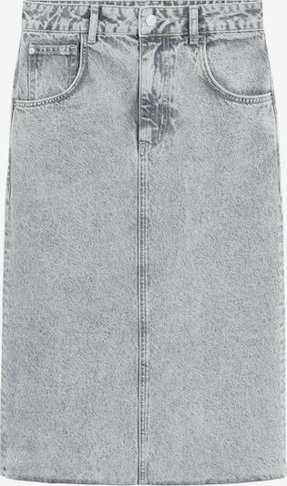 MANGO Jupe en gris denim, Vue avec produit
